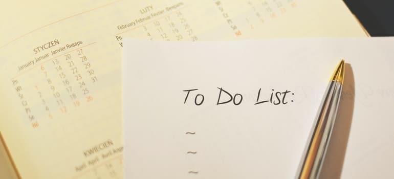 calendar and to do list