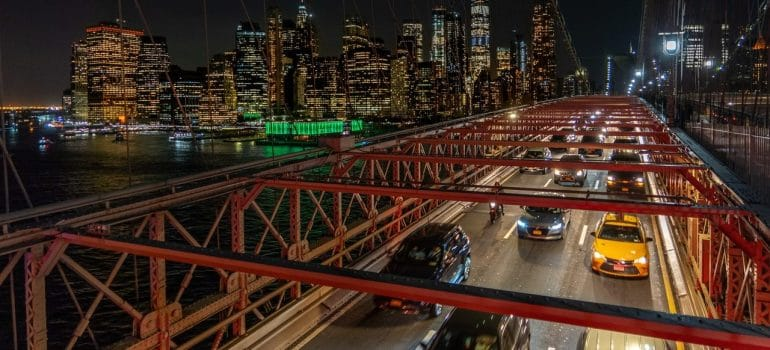 a picture of a traffic jam on a bridge