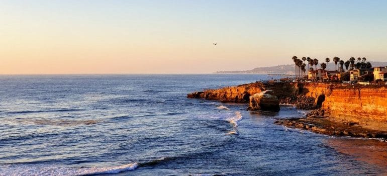 A landscape of San Diego beach.